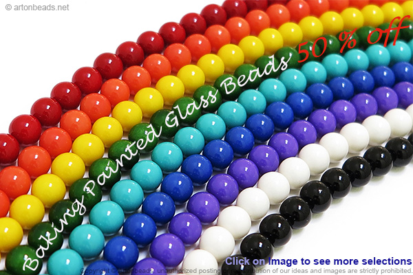 Backing Painted Glass Beads
