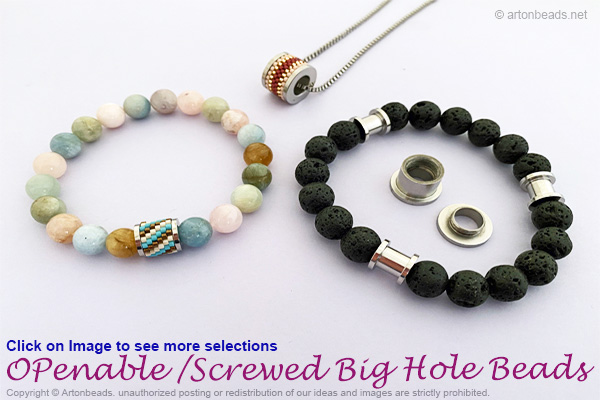 Openable/Screwed Big Hole Beads