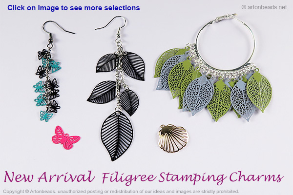 Filigree Stamping Charms