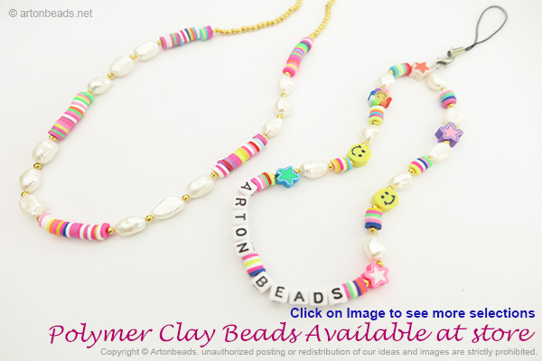 Polymer Clay beads available at storeil